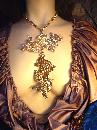 HUGe Runway Signed Double Dragon Super long Necklace Napier