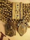 Antique Victorian bracelet with French religious medals fobs