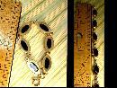 Vintage Victorian bracelet Black onyx stones 12kt gf