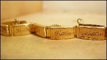 ANtique victorian bracelet Mother and family Bertha father ed Heirloom