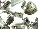 Ornate Heirloom Victorian puffed Sweetheart charm bracelet