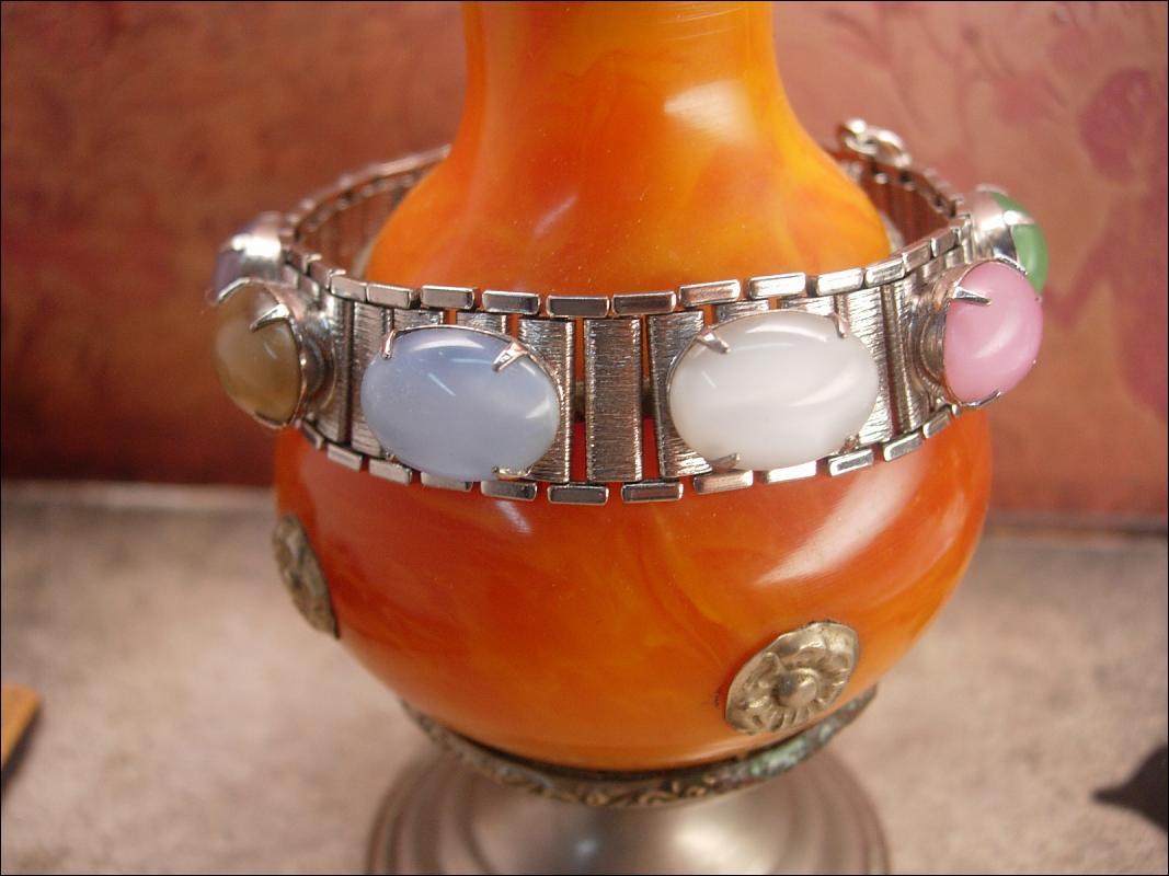 Vintage Moonstone bookchain bracelet sarah coventry