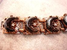 Vintage Bracelet moon and stars with copper goldstone goddess celestial spirit