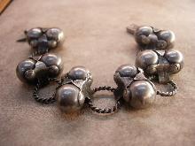Vintage Sigi Pineda modernist sterling bracelet Goth meets mechanical age