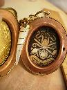 Devil talisman tooth locket bizarre watch chain skull necklace