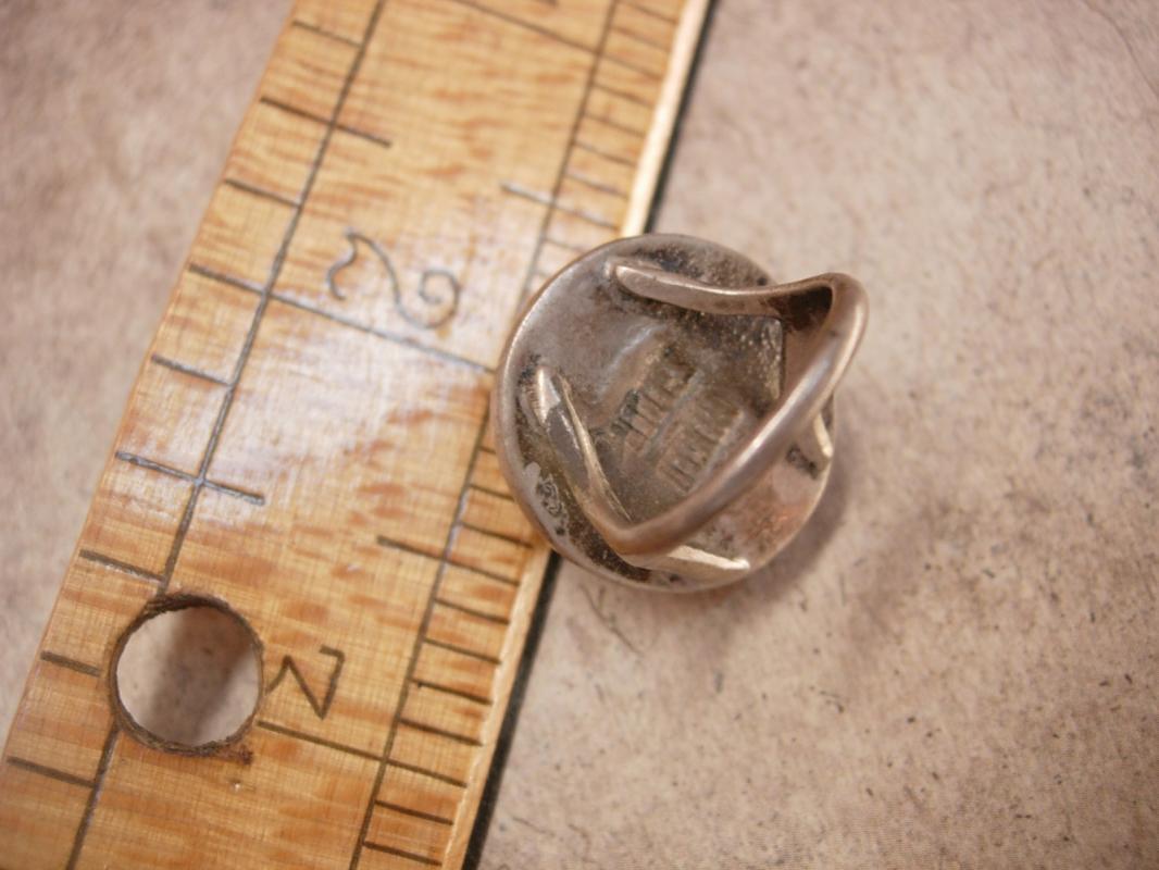 Vintage amethyst Ring HUGE Sphere sterling signed Spiritual healing gemstone February Birthstone