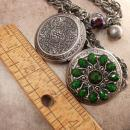 Jeweled Marie Antoinette Locket necklace OOAK French Chic