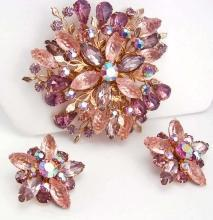 HUGE statement Fruit salad Brooch and earrings OVER 3