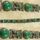 Signed VIntage sterling Mexico Bracelet Fancy ornate settings hallmarked