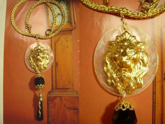 Victorian Lions and snakes OH MY what a  necklace