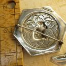Antique Sterling Cleopatra brooch Grand tour hallmarked solid sterling large egyptian Queen brooch