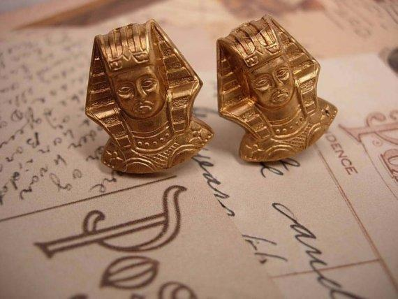 assemblage Egyptian revival cufflinks