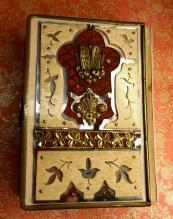 ANtique 1857 Ivory and ormolu Jewish Prayer book Highly ornate