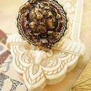 BOhemian Beauty RIng big and bold figural Cameo woman