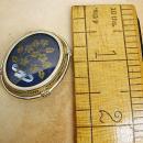 VIntage Memorial victorian brooch pendant 800 silver handpainted