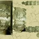 VIntage 1930's Goddess relief fob bracelet Ancient Mayans of MExico