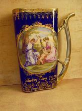 Vintage healing Cherub portrait Cup from Karlovy Vary with the neatest history 1937