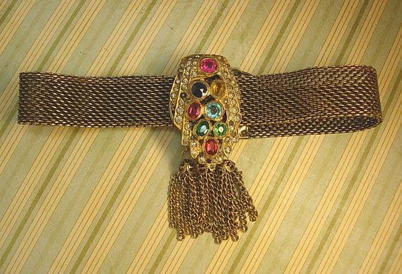 Victorian necklace ANtique czech jeweled Czech dress clip fringe collar choker