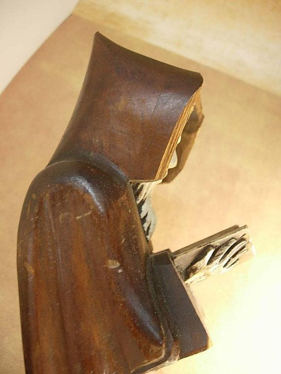 Bizarre arts and crafts Monk with rosary