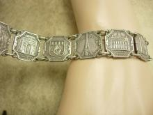 Vintage French Paris Fob tourist Bracelet France deco Infant of Prague religious fob