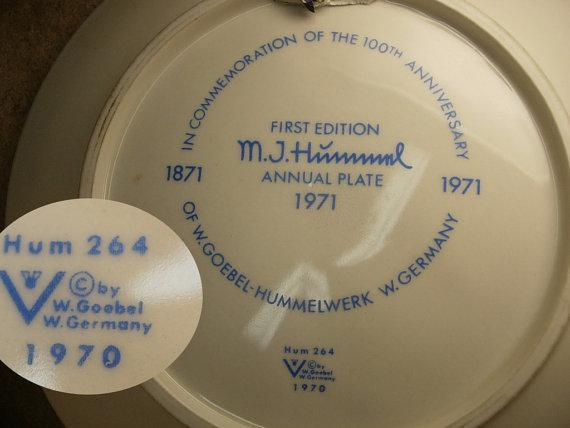 1971 Hummel Plate Heavenly Angel 100th anniversary