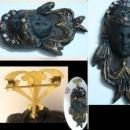 UNUSUAL HUGE  Nouveau Goddess GOTHIC with Victorian hanger brooch