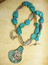 Cath Celestial sun goddess turquoise necklace