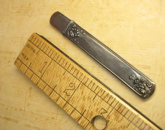 ANtique victorian sterling fruit knife hidden compartment
