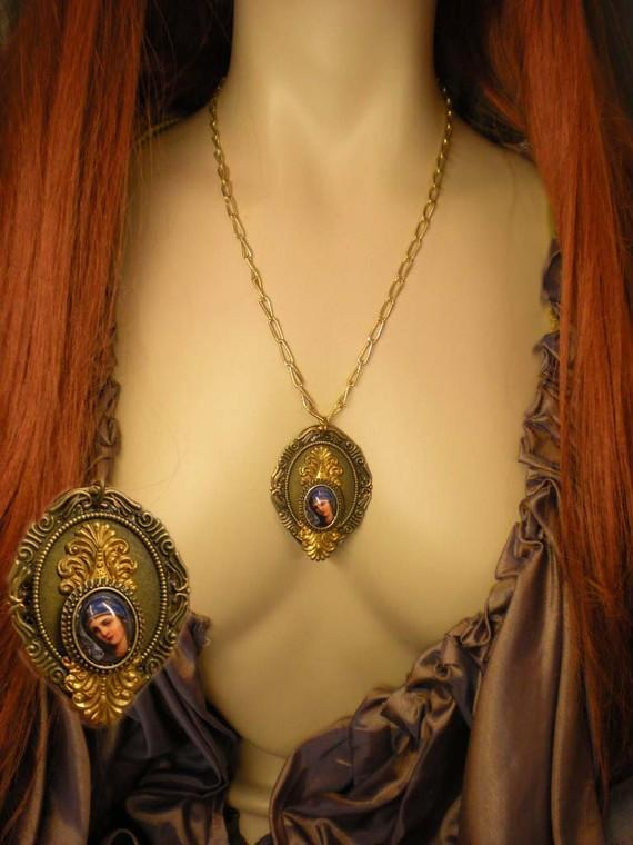 Gorgeous Portrait of  Madonna Necklace