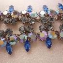 GORGEOUS Blue Weiss Aurora borealis Glass necklace and earrings Fit for the NEW Queen