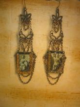 ShoulderDuster Flapper earrings Chandelier exotic portraits