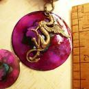 Dragon necklace Winged creature Dragons blood pendant gypsy talisman
