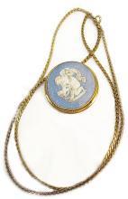 Vintage Wedgwood cherub necklace brooch made in England cupid jasperware angel