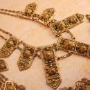Vintage Fabulous ETRUSCAN Parure NEcklace Brooch and bracelet Signed Etrusceana