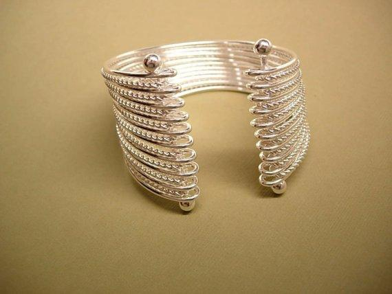 Modernist MEchanical 19 band 2INCH WIDE  cuff bracelet