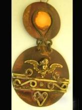 Unusual OOAK GOthic Cherub medieval jeweled choker necklace