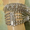 Vintage 9 Row Rhinestone bracelet & necklace PURE glamour and drama for your wedding