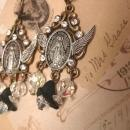 Sinners and saints Rosary Assemblage Earrings