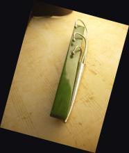 Vintage Bakelite sterling Tussie mussie brooch