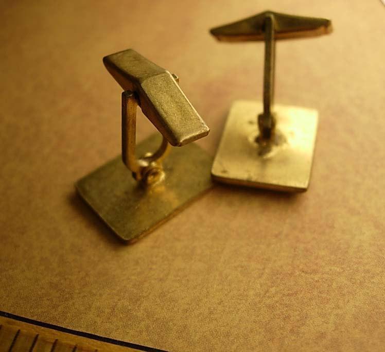 Vintage Chess Cufflinks Cobalt blue enamel the Rook