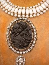 Black Mourning Cherub Cameo Choker necklace