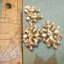 VIntage Moonstone and rhinestone duette brooch and screw on earrings