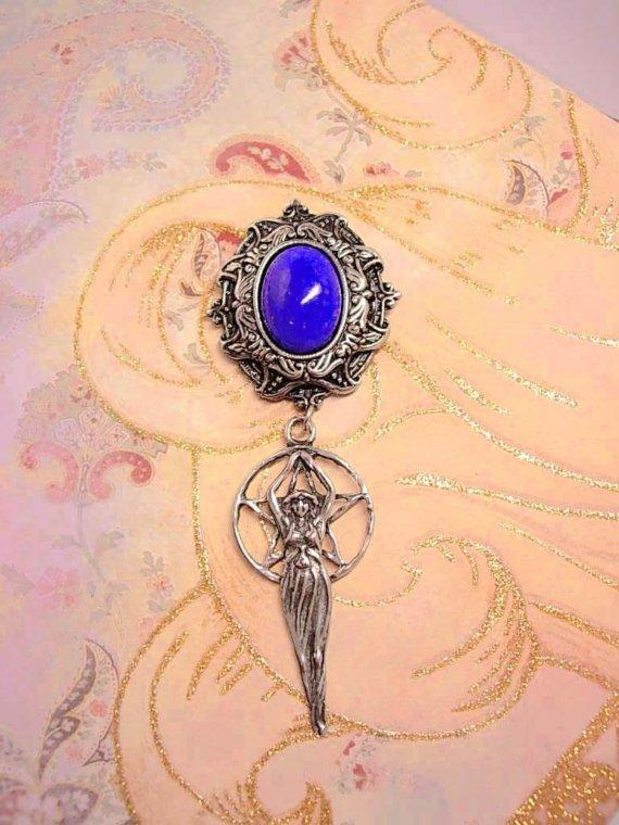 Magical Wicca Nouveau Goddess Hanging Brooch