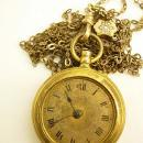 Antique victorian Slide necklace pocketwatch included