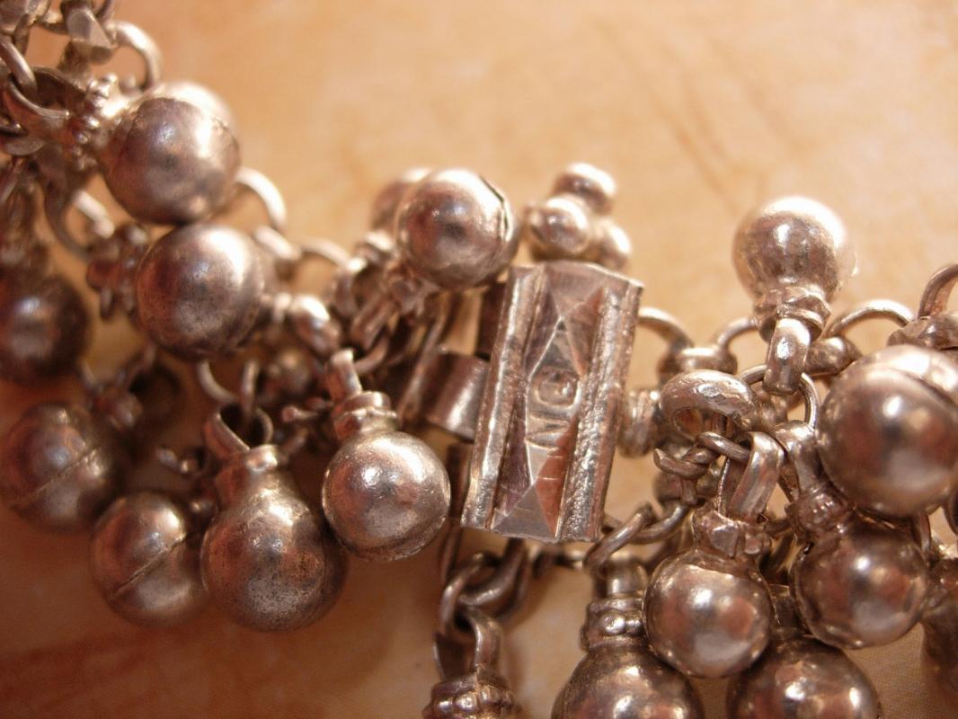 Vintage Hallmarked sterling Gypsy STERLING bracelet Goddess and belly dancer delight