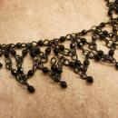 Goth Black Spider web Cross choker marcasite cross necklace