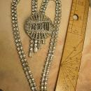 Art deco Vintage necklace brooch conversion set marcasites and rhinestones flapper fringe