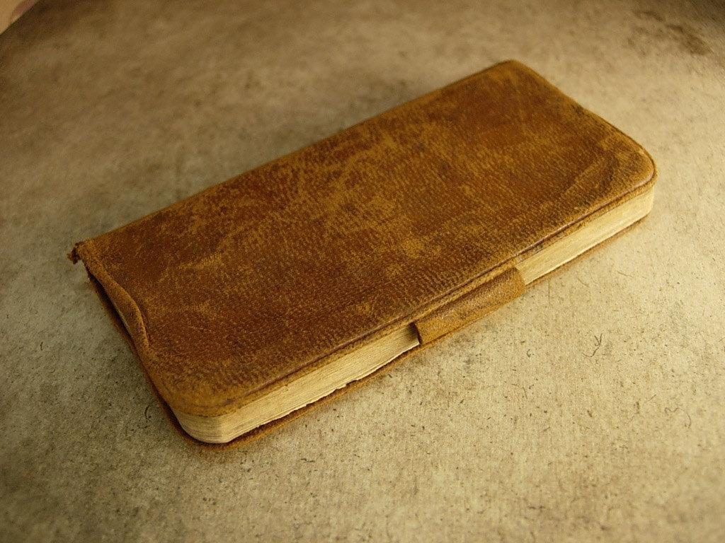 Four Leaf clover antique leather book FULL of irish clover and history