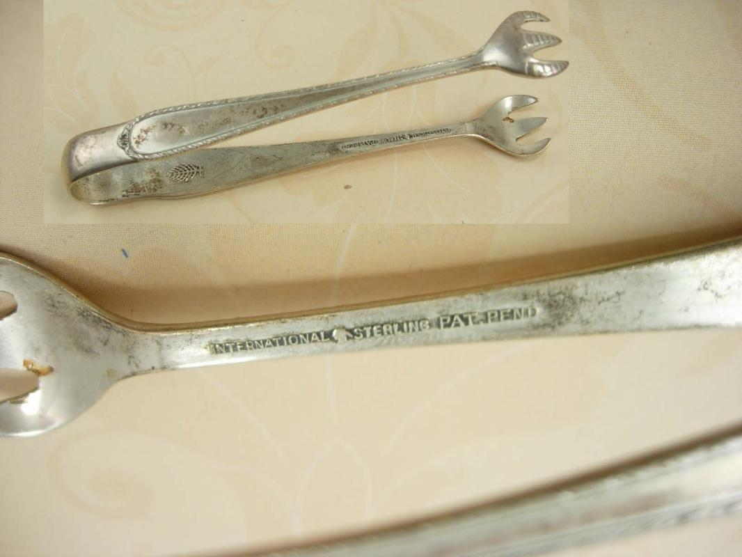 Antique sterling hallmarked Bird claw sugar tongs hallmarked
