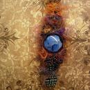 Bohemian Goddess Talisman necklace exotic eye centerpiece